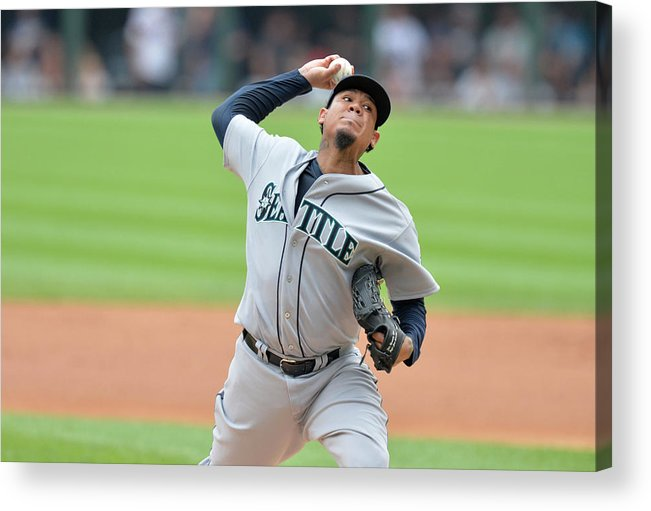 People Acrylic Print featuring the photograph Felix Hernandez by Brian Kersey