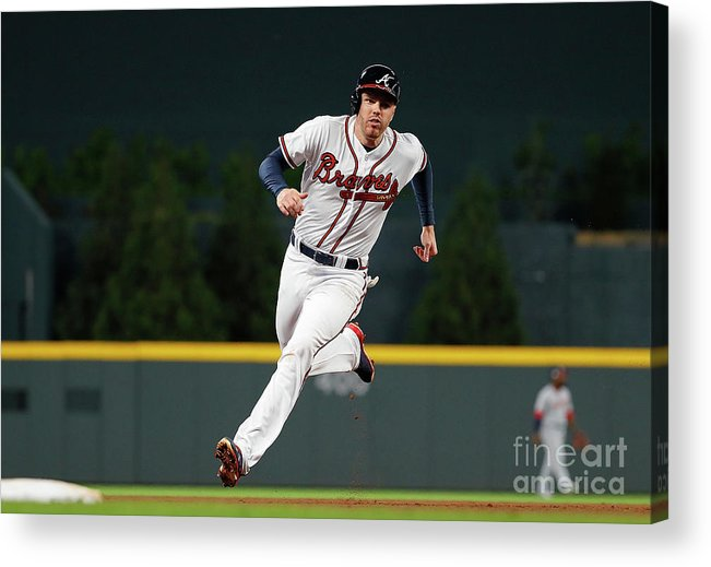 Atlanta Acrylic Print featuring the photograph Freddie Freeman and Nick Markakis by Kevin C. Cox