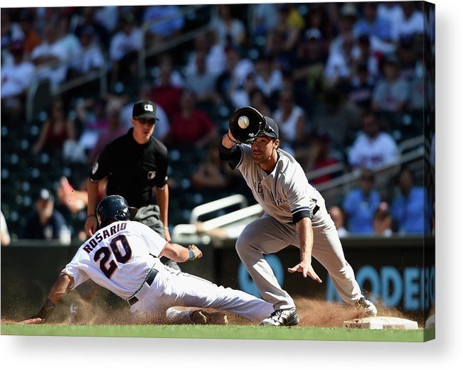 People Acrylic Print featuring the photograph Garrett Jones and Eddie Rosario by Hannah Foslien