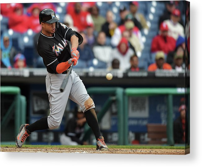 People Acrylic Print featuring the photograph Giancarlo Stanton by Drew Hallowell