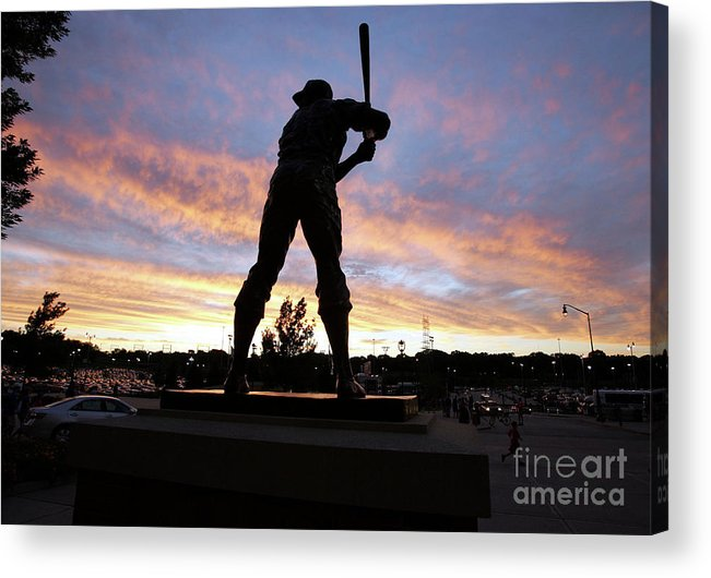 People Acrylic Print featuring the photograph Hank Aaron by Icon Sports Wire
