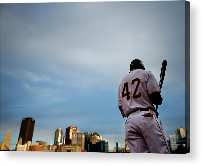 Second Inning Acrylic Print featuring the photograph Jackie Robinson by Jared Wickerham