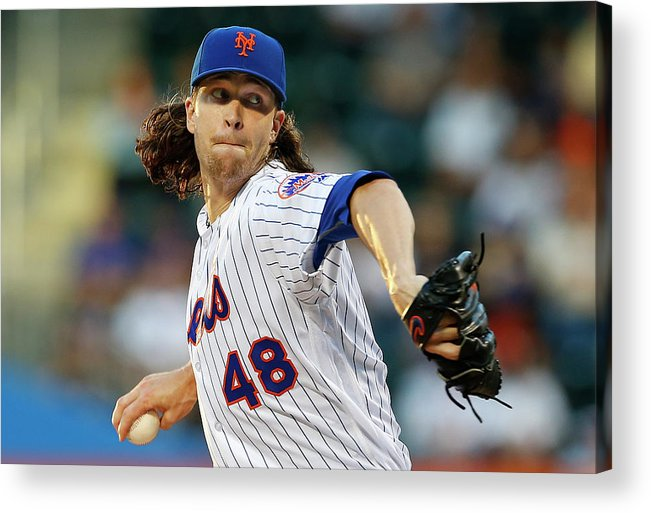 Jacob Degrom Acrylic Print featuring the photograph Jacob Degrom by Rich Schultz