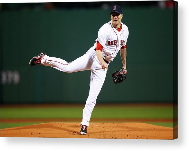 People Acrylic Print featuring the photograph Jake Peavy by Jared Wickerham