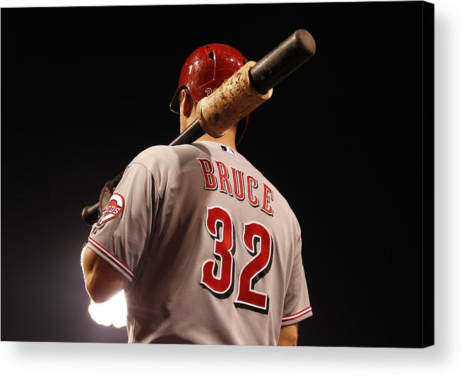 American League Baseball Acrylic Print featuring the photograph Jay Bruce by Justin K. Aller