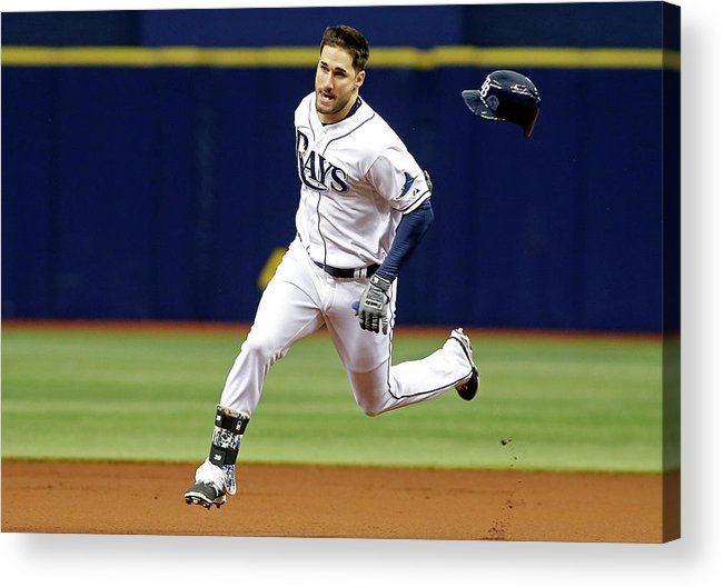 People Acrylic Print featuring the photograph Jeff Samardzija and Kevin Kiermaier by Brian Blanco
