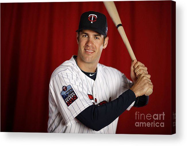 Media Day Acrylic Print featuring the photograph Joe Mauer by Gregory Shamus