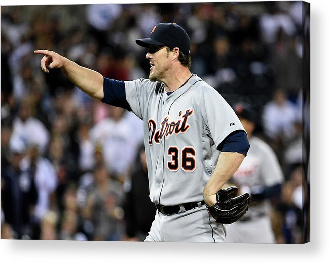 Ninth Inning Acrylic Print featuring the photograph Joe Nathan by Denis Poroy