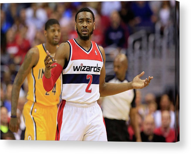 Playoffs Acrylic Print featuring the photograph John Wall by Rob Carr