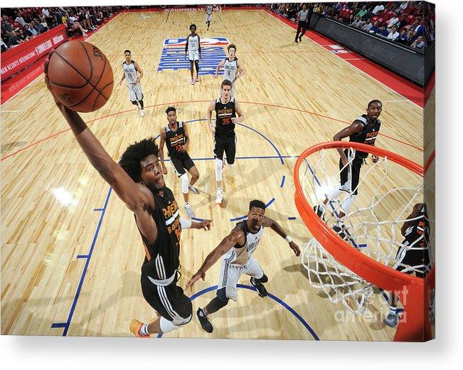 Nba Pro Basketball Acrylic Print featuring the photograph Josh Jackson by Garrett Ellwood