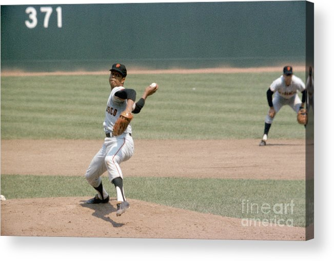 Baseball Pitcher Acrylic Print featuring the photograph Juan Marichal by Louis Requena