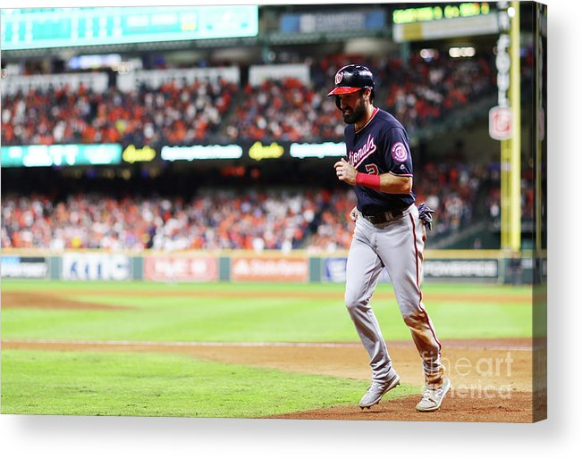 People Acrylic Print featuring the photograph Juan Soto and Adam Eaton by Mike Ehrmann