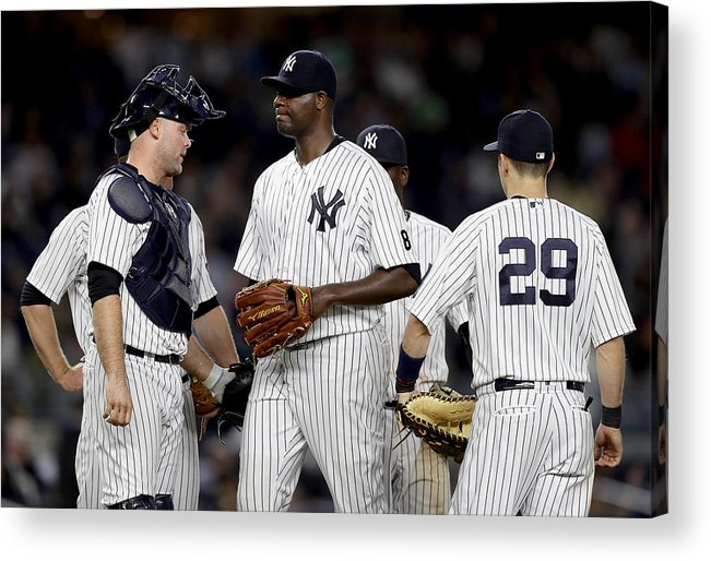 Brian Mccann Acrylic Print featuring the photograph Kansas City Royals v New York Yankees by Elsa