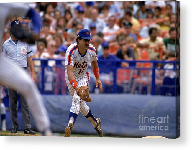 1980-1989 Acrylic Print featuring the photograph Keith Hernandez by Mike Powell