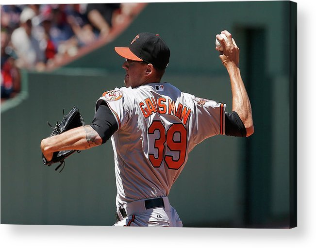 American League Baseball Acrylic Print featuring the photograph Kevin Gausman by Jim Rogash