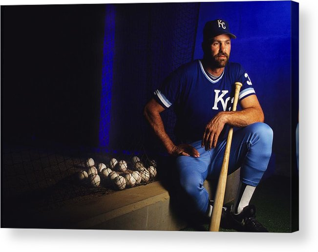 American League Baseball Acrylic Print featuring the photograph Kirk Gibson by Ronald C. Modra/sports Imagery