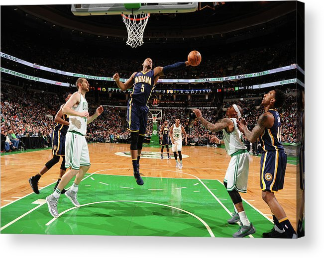 Nba Pro Basketball Acrylic Print featuring the photograph Lavoy Allen by Brian Babineau
