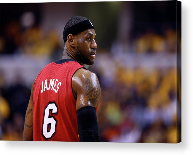 Playoffs Acrylic Print featuring the photograph Lebron James by Andy Lyons