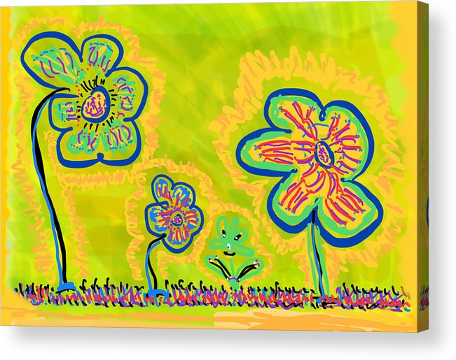 Spring Acrylic Print featuring the drawing Looking for Spring by Pam Roth O'Mara