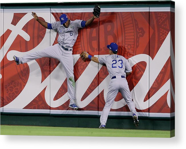 American League Baseball Acrylic Print featuring the photograph Lorenzo Cain by Jeff Gross