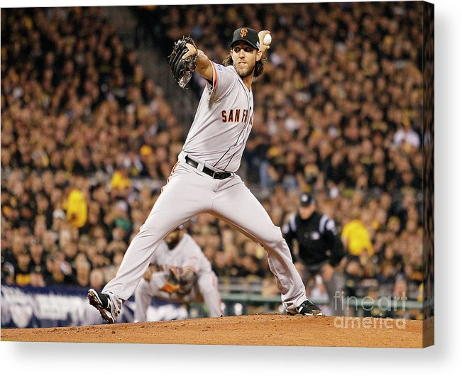 Pnc Park Acrylic Print featuring the photograph Madison Bumgarner by Justin K. Aller