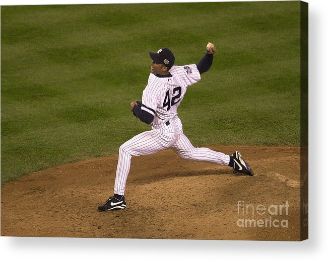 People Acrylic Print featuring the photograph Mariano Rivera by Ezra Shaw