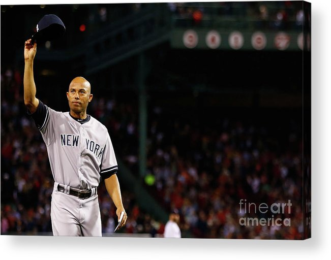 Crowd Acrylic Print featuring the photograph Mariano Rivera by Jared Wickerham