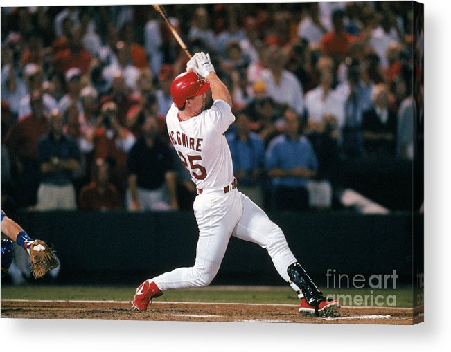 St. Louis Cardinals Acrylic Print featuring the photograph Mark Mcgwire and Roger Maris by Ron Vesely