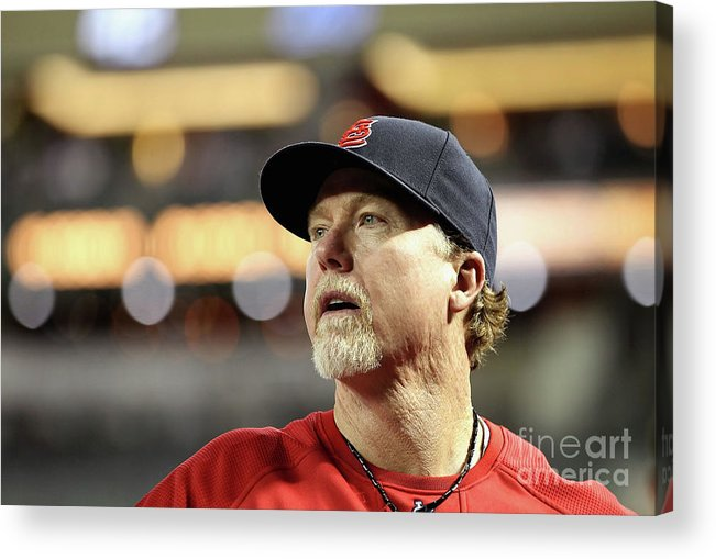 St. Louis Cardinals Acrylic Print featuring the photograph Mark Mcgwire by Christian Petersen