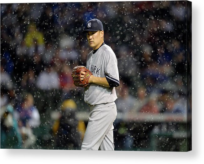 American League Baseball Acrylic Print featuring the photograph Masahiro Tanaka by Brian Kersey