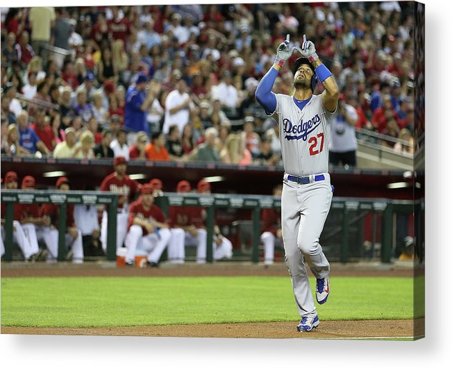 Second Inning Acrylic Print featuring the photograph Matt Kemp by Christian Petersen