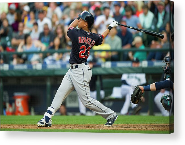 People Acrylic Print featuring the photograph Michael Brantley by Rich Lam