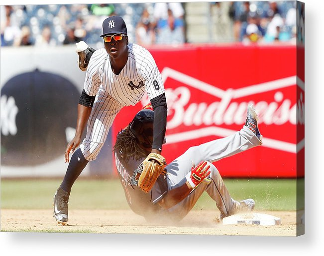 Double Play Acrylic Print featuring the photograph Michael Martinez and Didi Gregorius by Jim Mcisaac