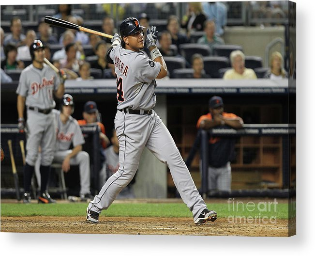 People Acrylic Print featuring the photograph Miguel Cabrera by Nick Laham