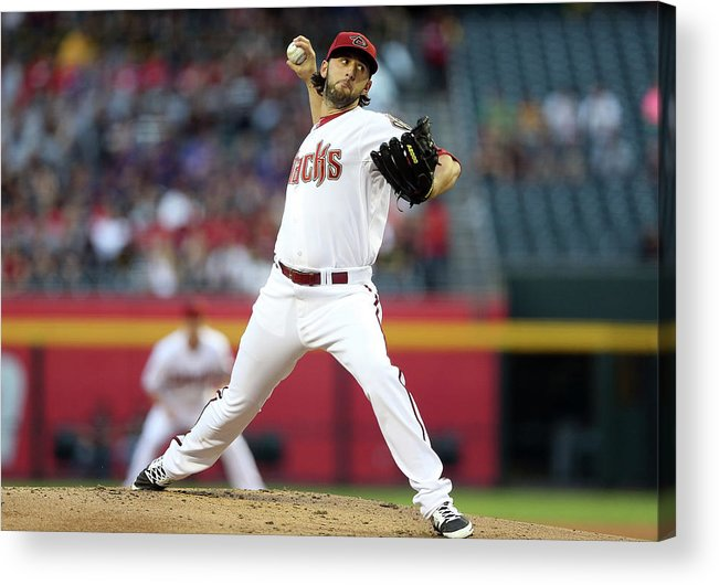 Mike Bolsinger Acrylic Print featuring the photograph Mike Bolsinger by Christian Petersen