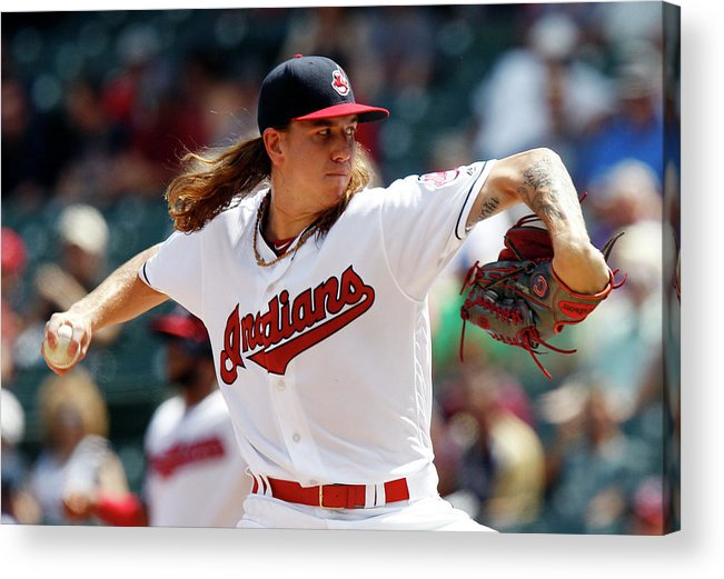 American League Baseball Acrylic Print featuring the photograph Mike Clevinger by David Maxwell