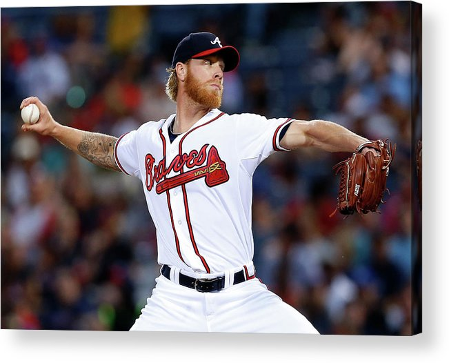 Atlanta Acrylic Print featuring the photograph Mike Foltynewicz by Mike Zarrilli