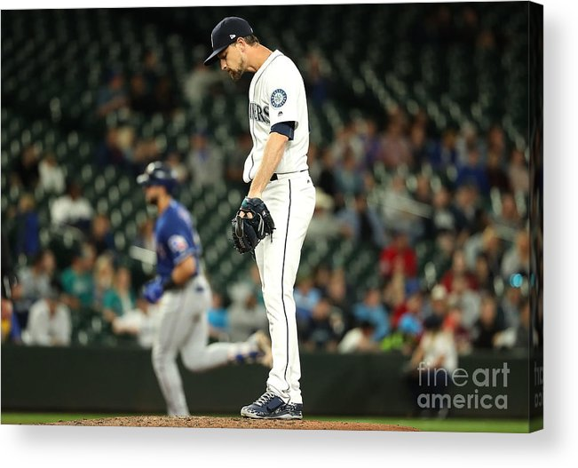 People Acrylic Print featuring the photograph Mike Leake and Joey Gallo by Abbie Parr