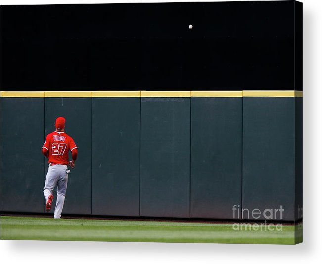 People Acrylic Print featuring the photograph Mike Trout by Lindsey Wasson