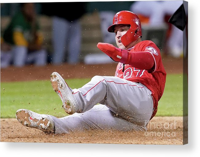 People Acrylic Print featuring the photograph Mike Trout by Thearon W. Henderson