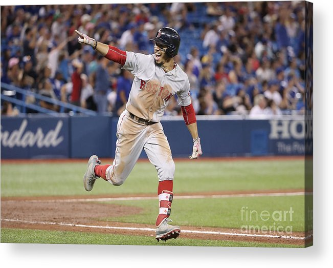 Ninth Inning Acrylic Print featuring the photograph Mookie Betts by Tom Szczerbowski