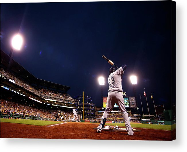 Expertise Acrylic Print featuring the photograph Nelson Cruz by Justin K. Aller