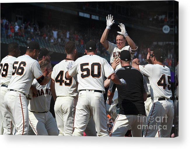 San Francisco Acrylic Print featuring the photograph Nick Hundley by Thearon W. Henderson