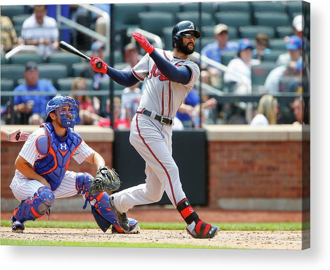 Following Acrylic Print featuring the photograph Nick Markakis by Jim Mcisaac
