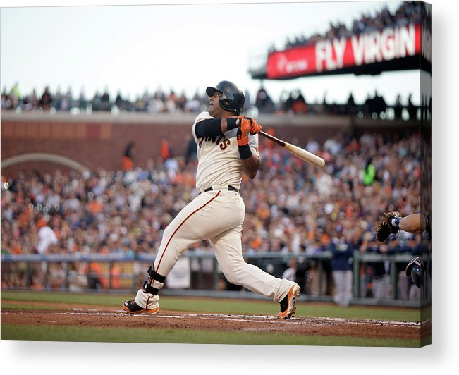 San Francisco Acrylic Print featuring the photograph Pablo Sandoval by Ezra Shaw