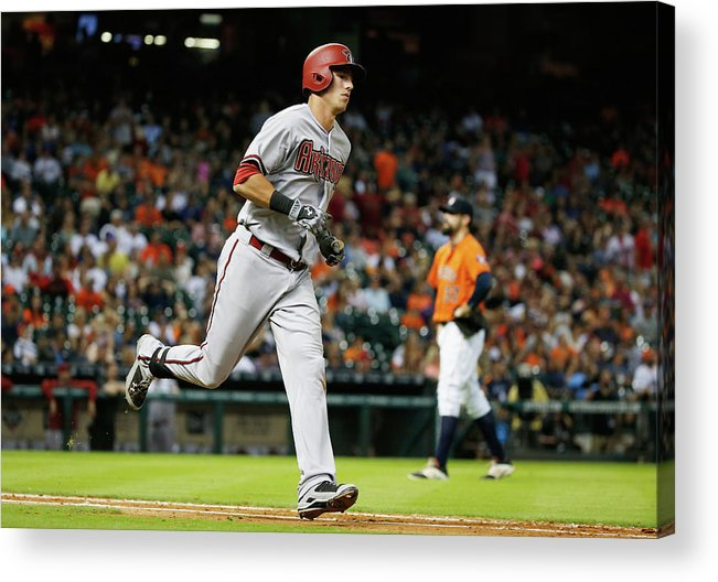 People Acrylic Print featuring the photograph Pat Neshek and Jake Lamb by Scott Halleran