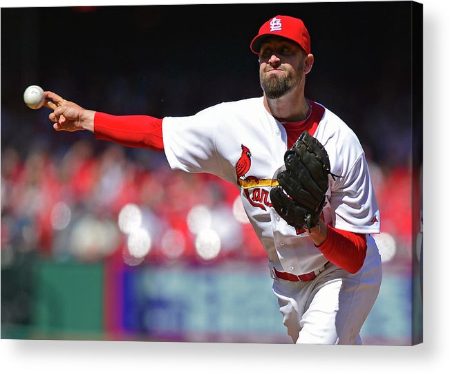St. Louis Cardinals Acrylic Print featuring the photograph Pat Neshek by Jeff Curry