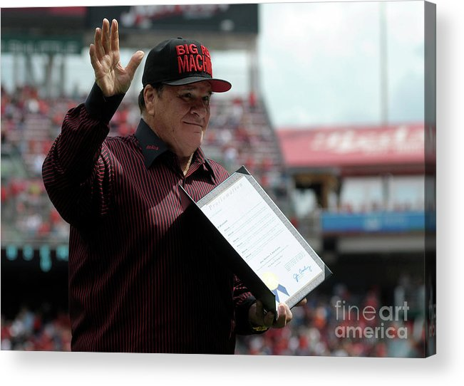 Great American Ball Park Acrylic Print featuring the photograph Pete Rose by Dylan Buell