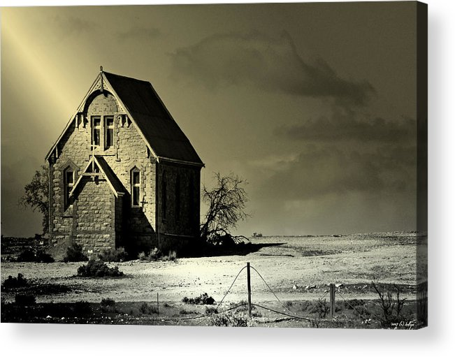 Church Acrylic Print featuring the photograph Praying for Rain by Holly Kempe