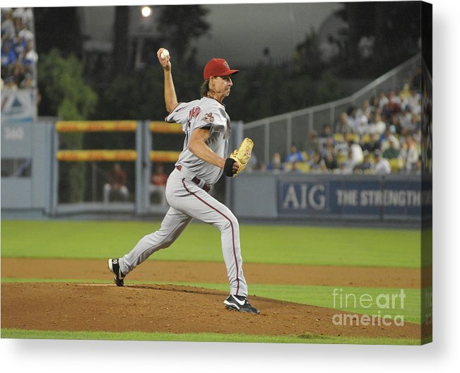 People Acrylic Print featuring the photograph Randy Johnson by Icon Sports Wire
